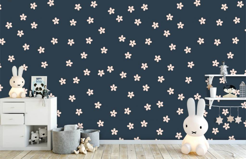 Patterns for Kidsroom - Small pink flowers - Children's room 5