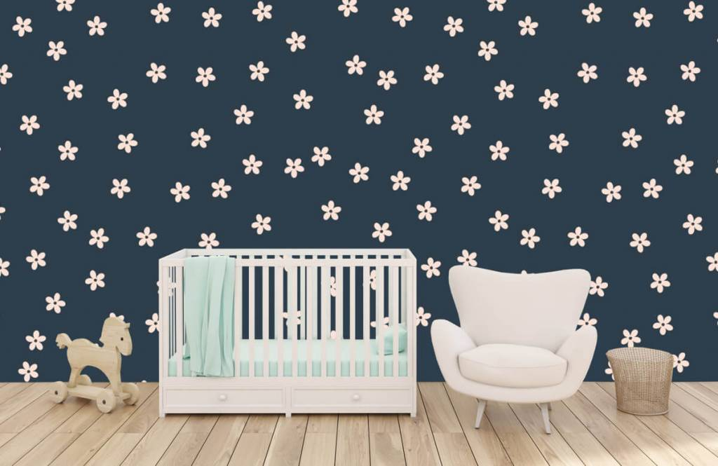 Patterns for Kidsroom - Small pink flowers - Children's room 6