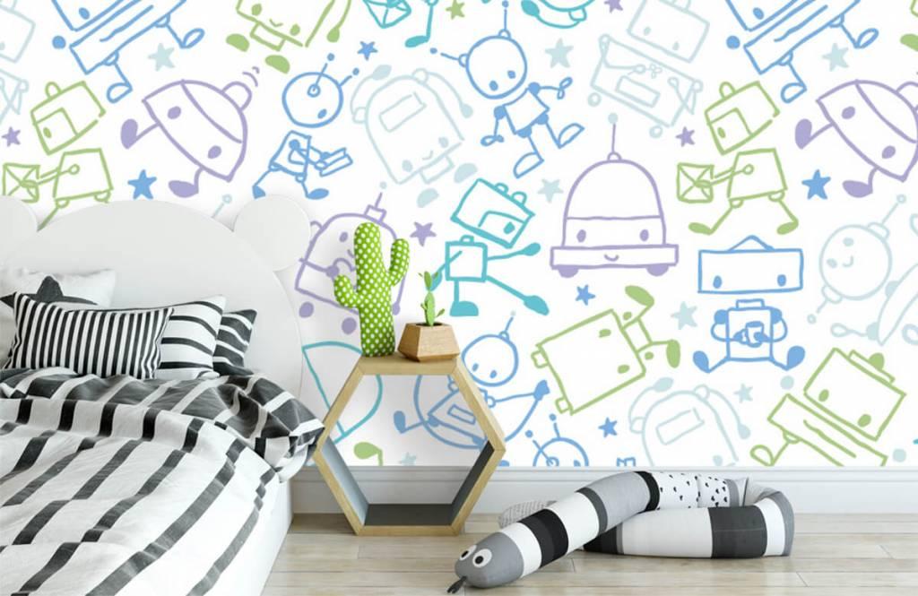 Children's wallpaper - Colorful space males - Children's room 1