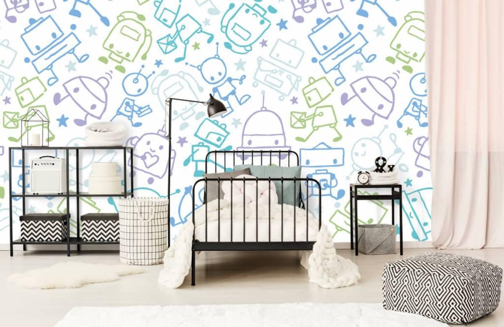 Children's wallpaper - Colorful space males - Children's room 2