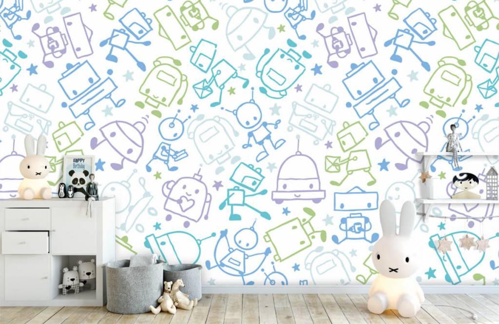 Children's wallpaper - Colorful space males - Children's room 4