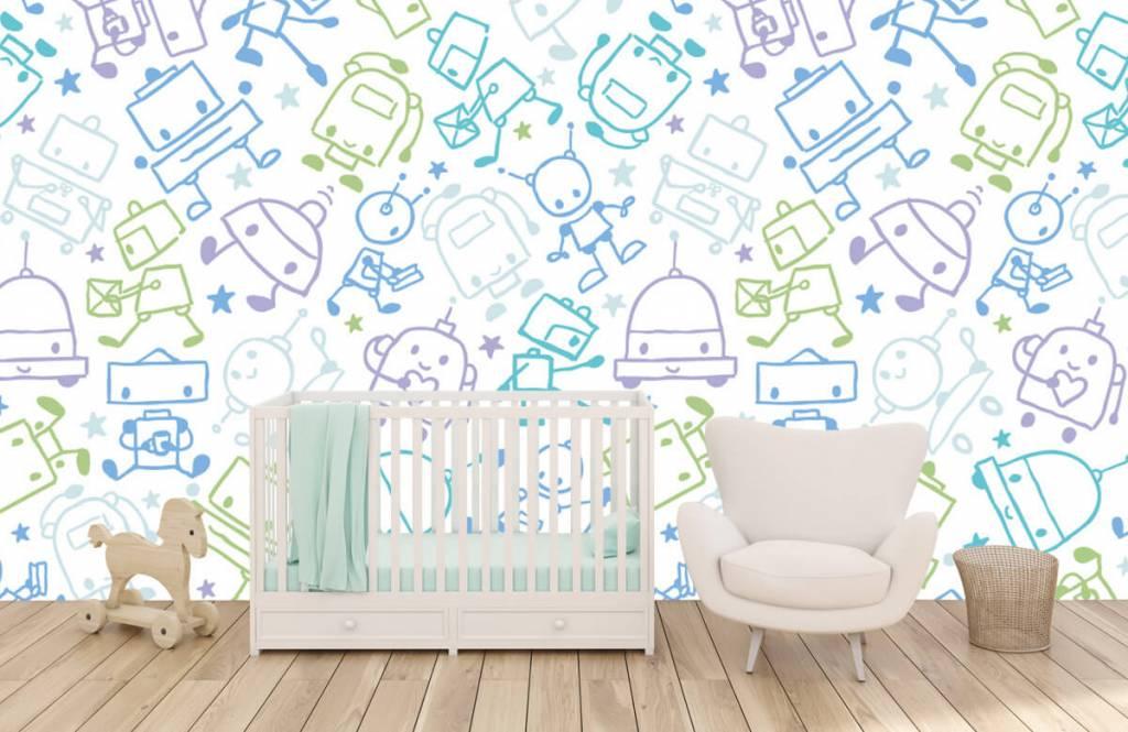 Children's wallpaper - Colorful space males - Children's room 5