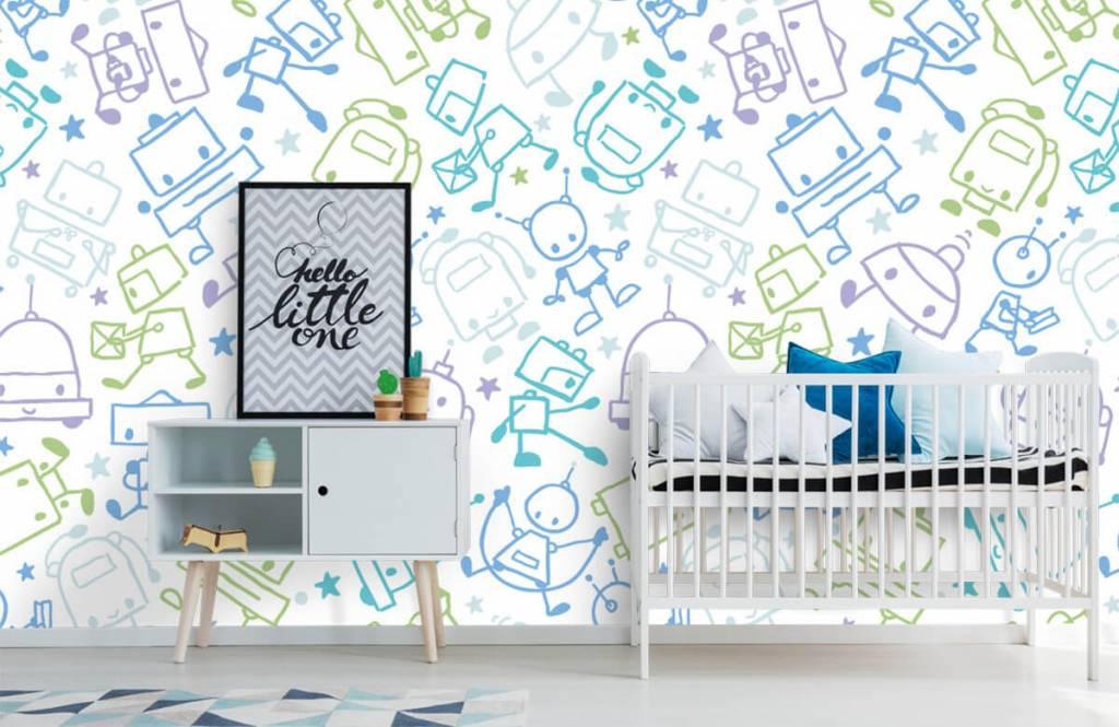 Children's wallpaper - Colorful space males - Children's room 6