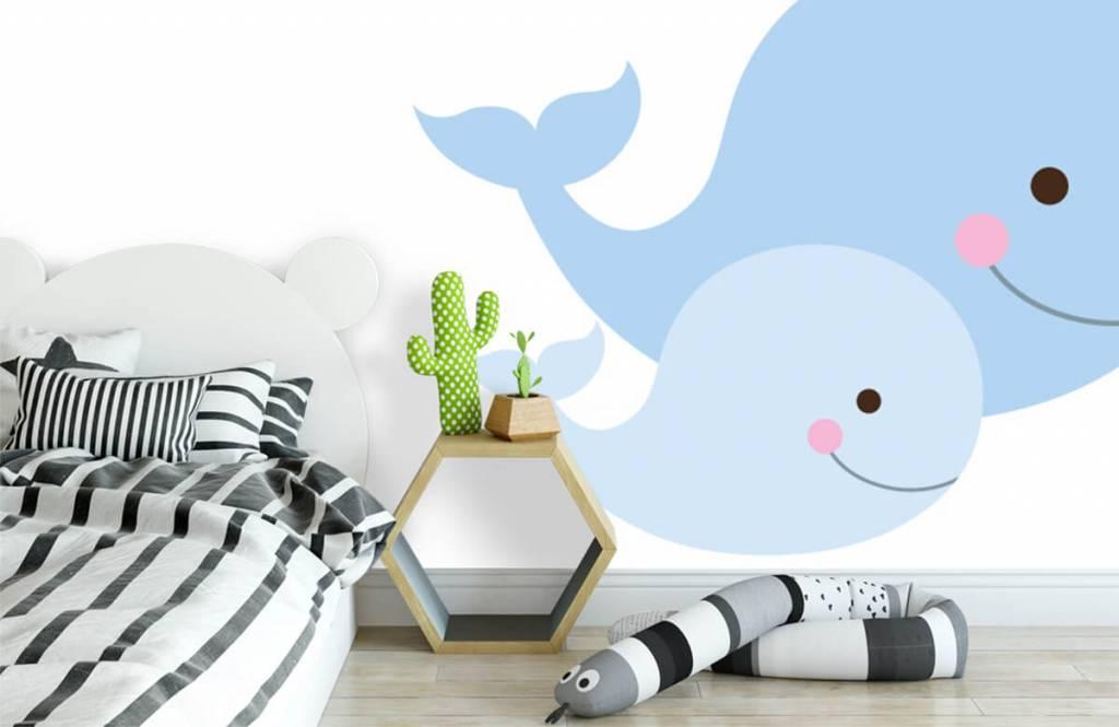 Aquatic Animals - Smiling whales - Children's room 1