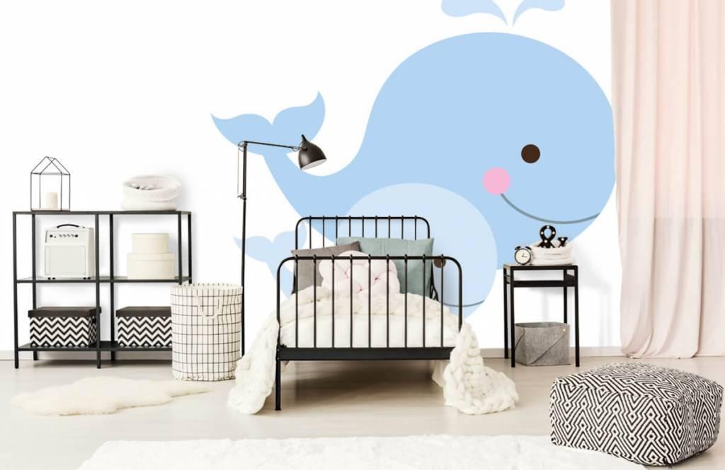 Aquatic Animals - Smiling whales - Children's room 2