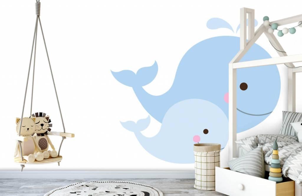Aquatic Animals - Smiling whales - Children's room 3