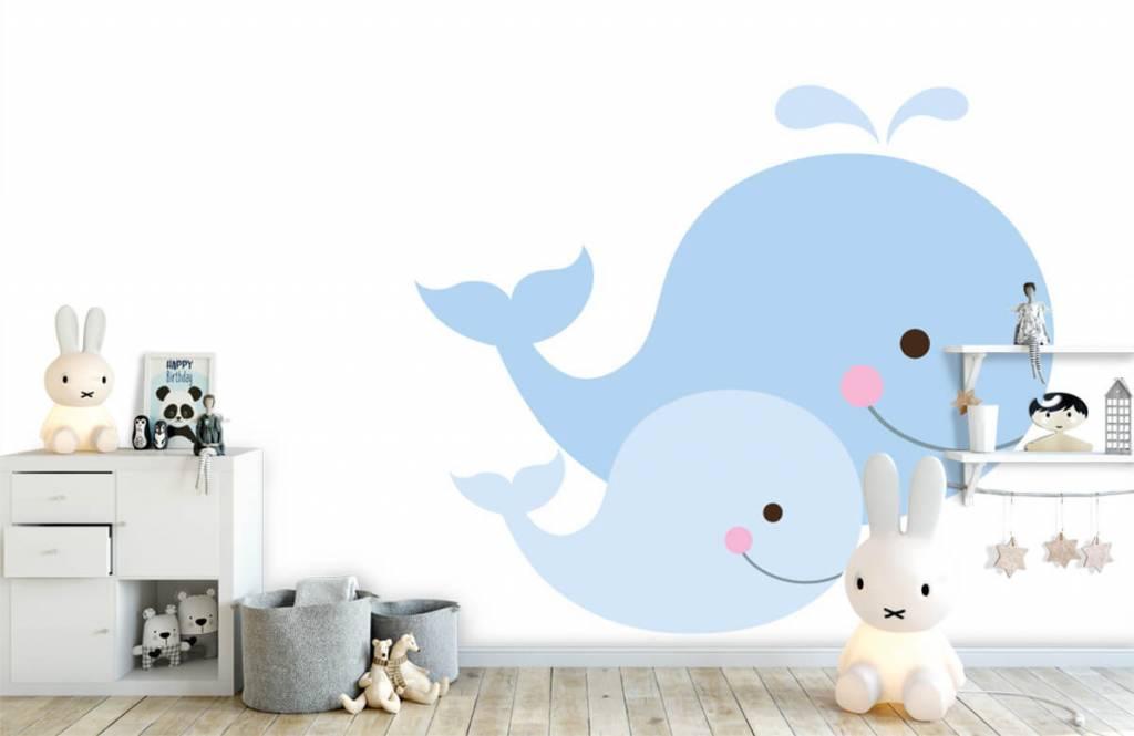 Aquatic Animals - Smiling whales - Children's room 4