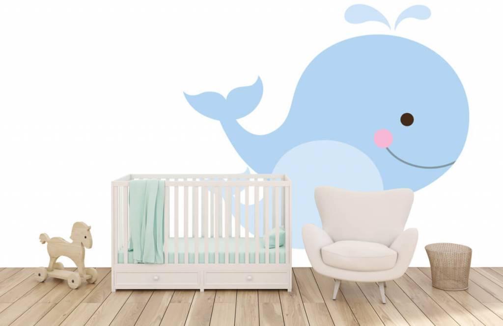 Aquatic Animals - Smiling whales - Children's room 5