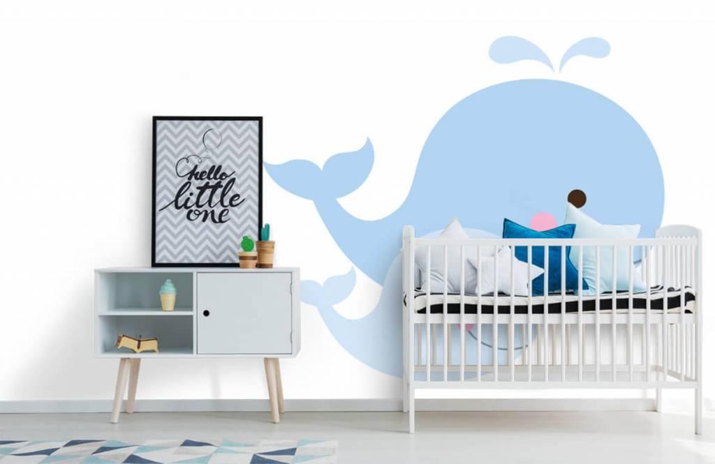 Aquatic Animals - Smiling whales - Children's room 6