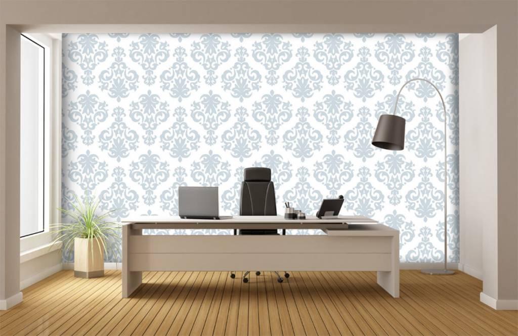 Baroque wallpaper - Light blue baroque - Bedroom 1