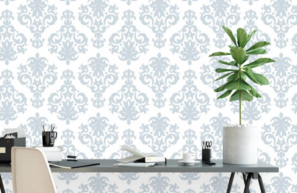 Baroque wallpaper - Light blue baroque - Bedroom 2