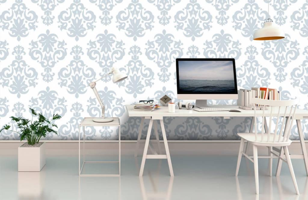 Baroque wallpaper - Light blue baroque - Bedroom 3