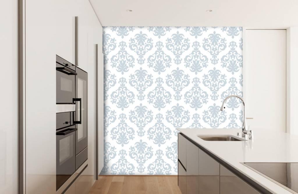 Baroque wallpaper - Light blue baroque - Bedroom 4