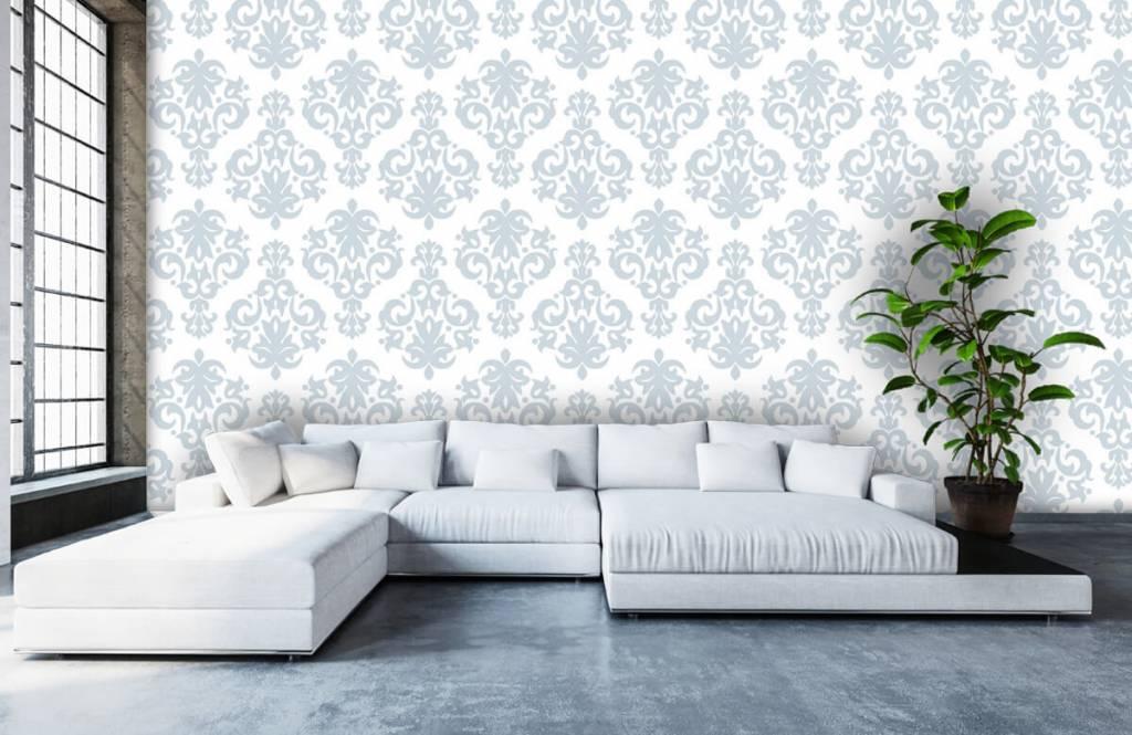 Baroque wallpaper - Light blue baroque - Bedroom 5