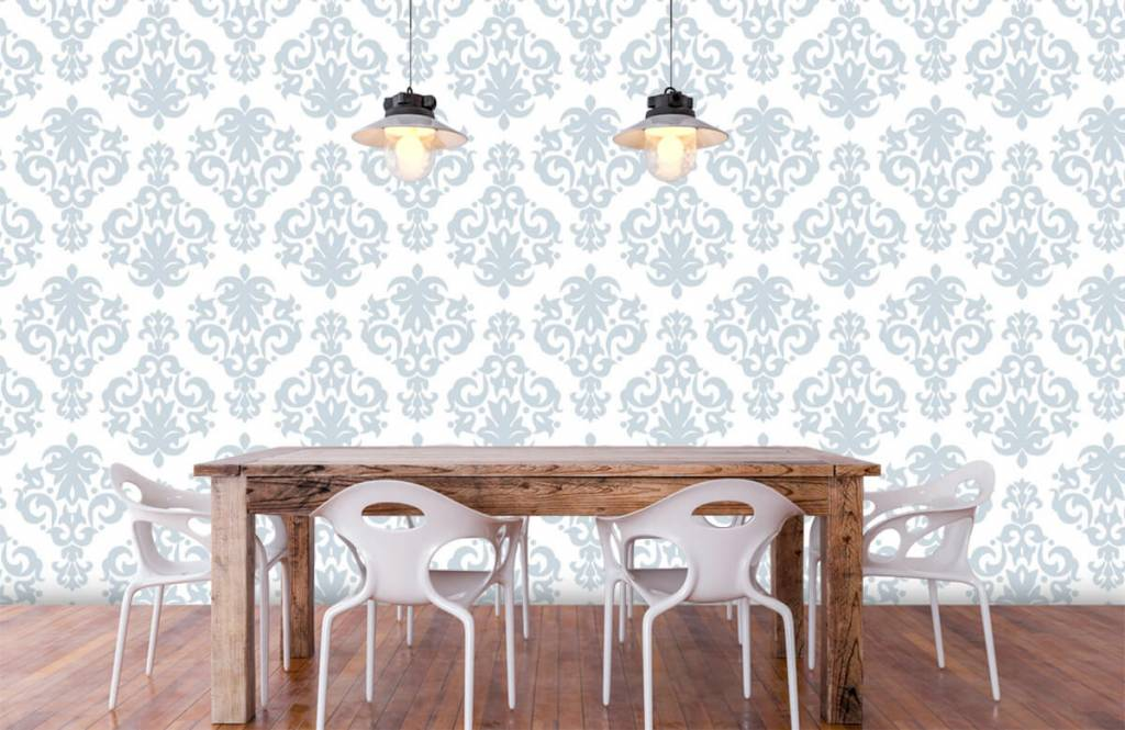 Baroque wallpaper - Light blue baroque - Bedroom 6