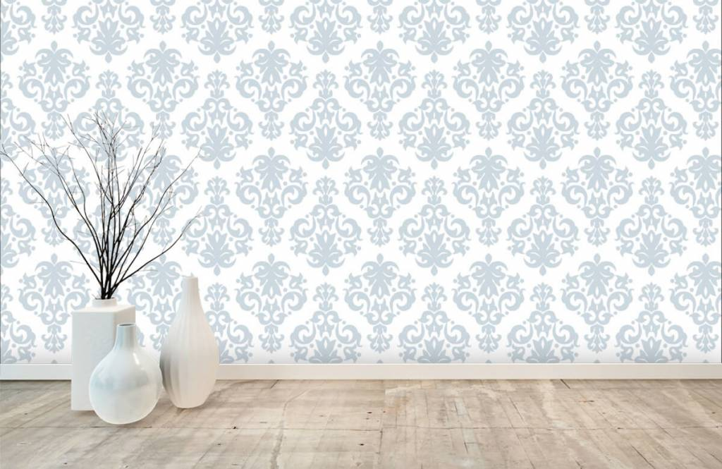Baroque wallpaper - Light blue baroque - Bedroom 7