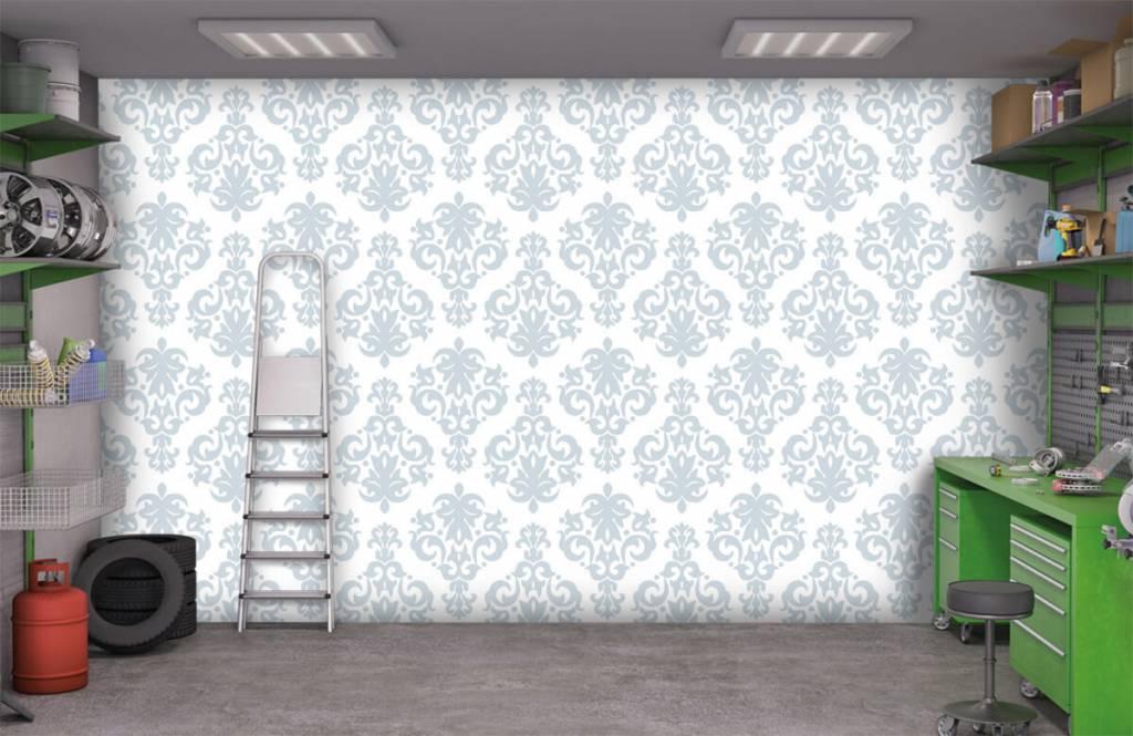 Baroque wallpaper - Light blue baroque - Bedroom 9