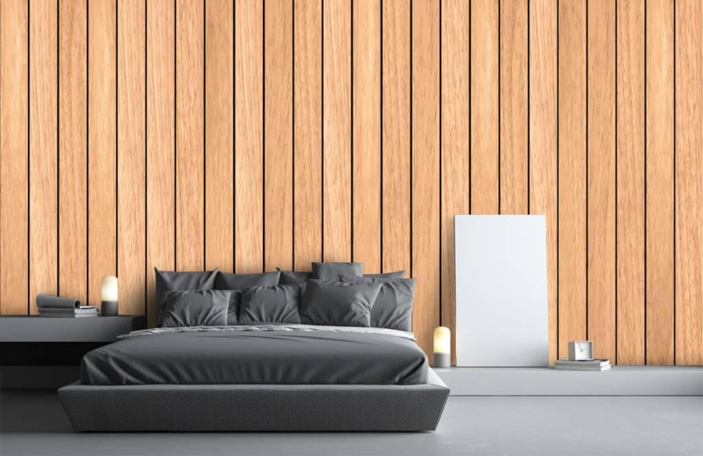 Wooden wallpaper - Light vertical wooden planks - Bedroom 1