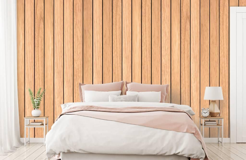 Wooden wallpaper - Light vertical wooden planks - Bedroom 2