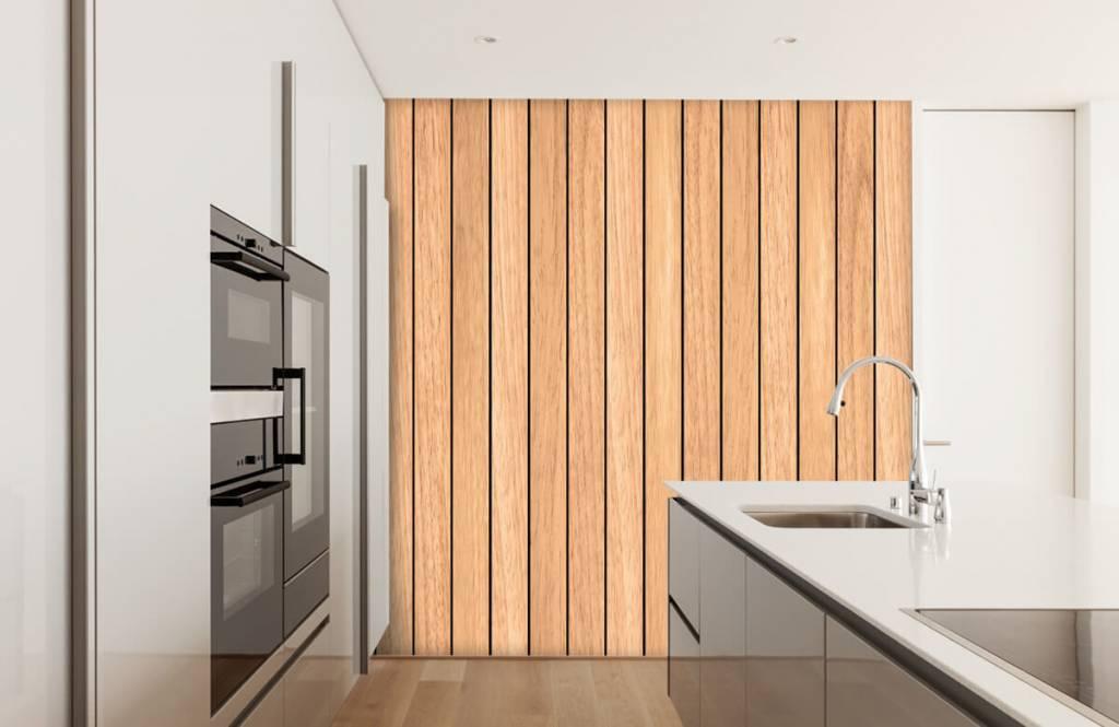Wooden wallpaper - Light vertical wooden planks - Bedroom 3