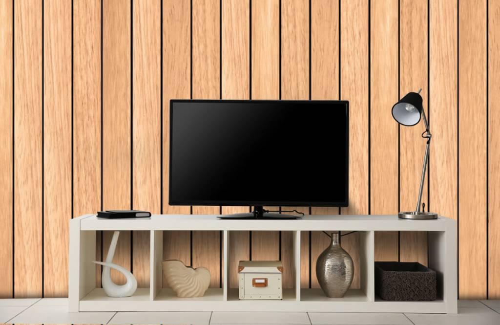 Wooden wallpaper - Light vertical wooden planks - Bedroom 4