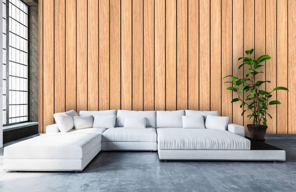 Wooden wallpaper - Light vertical wooden planks - Bedroom 5
