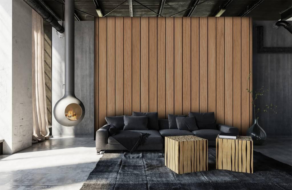 Wooden wallpaper - Light vertical wooden planks - Bedroom 6