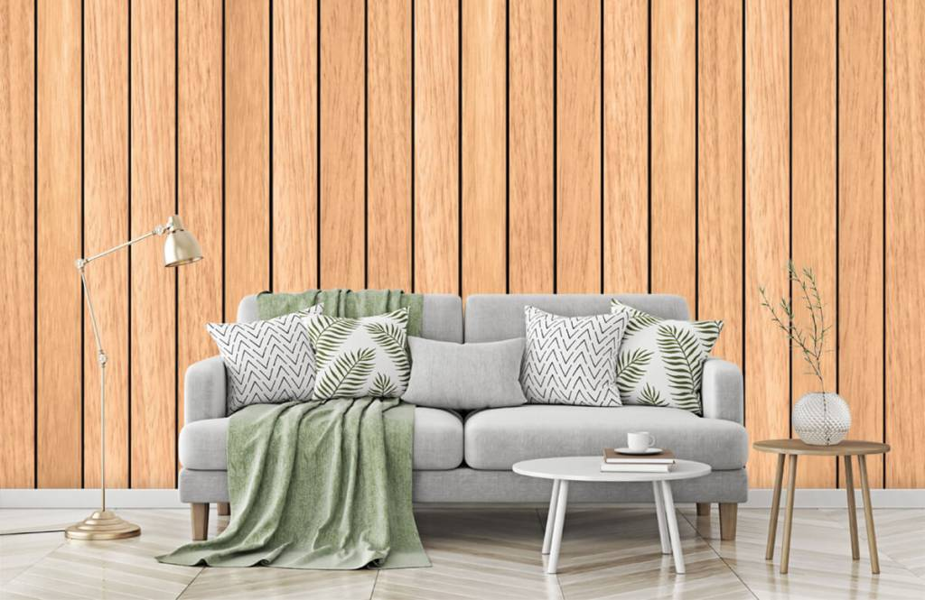 Wooden wallpaper - Light vertical wooden planks - Bedroom 7