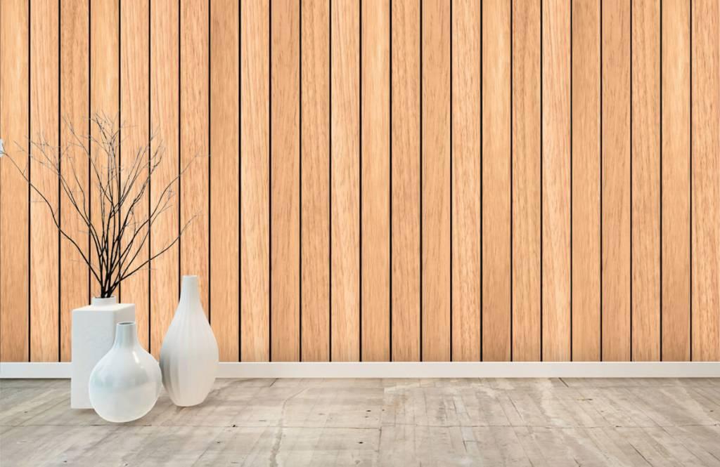 Wooden wallpaper - Light vertical wooden planks - Bedroom 8