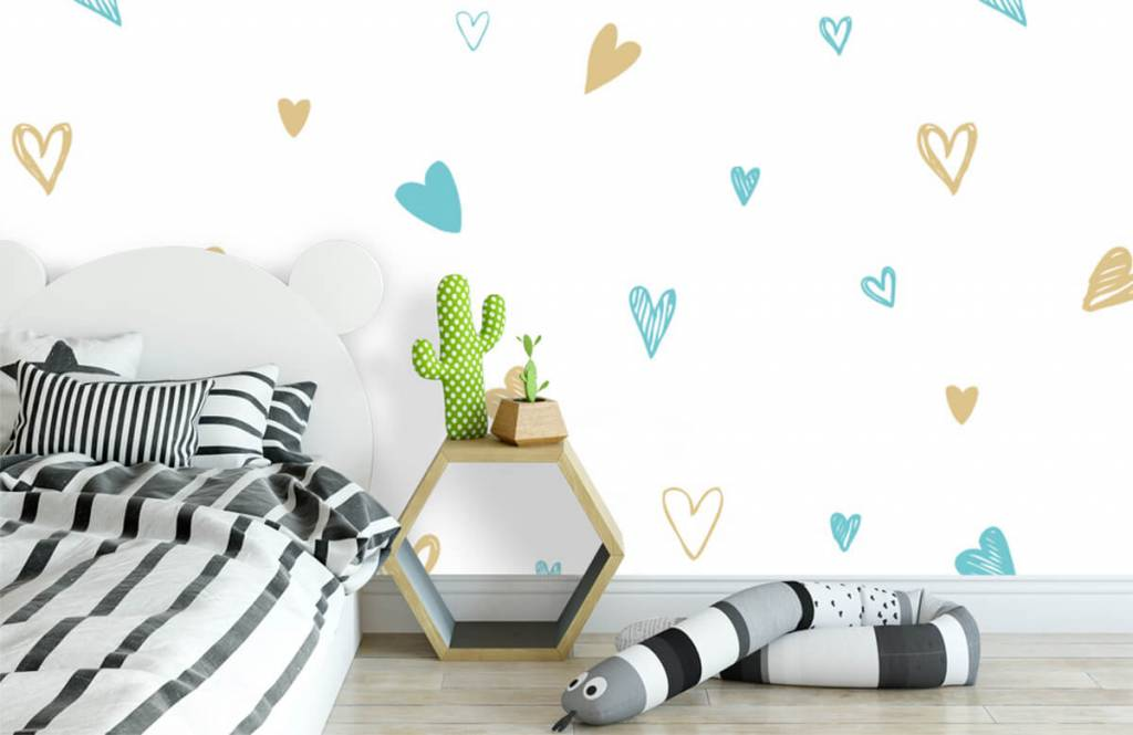 Other - Mint and golden hearts - Children's room 3