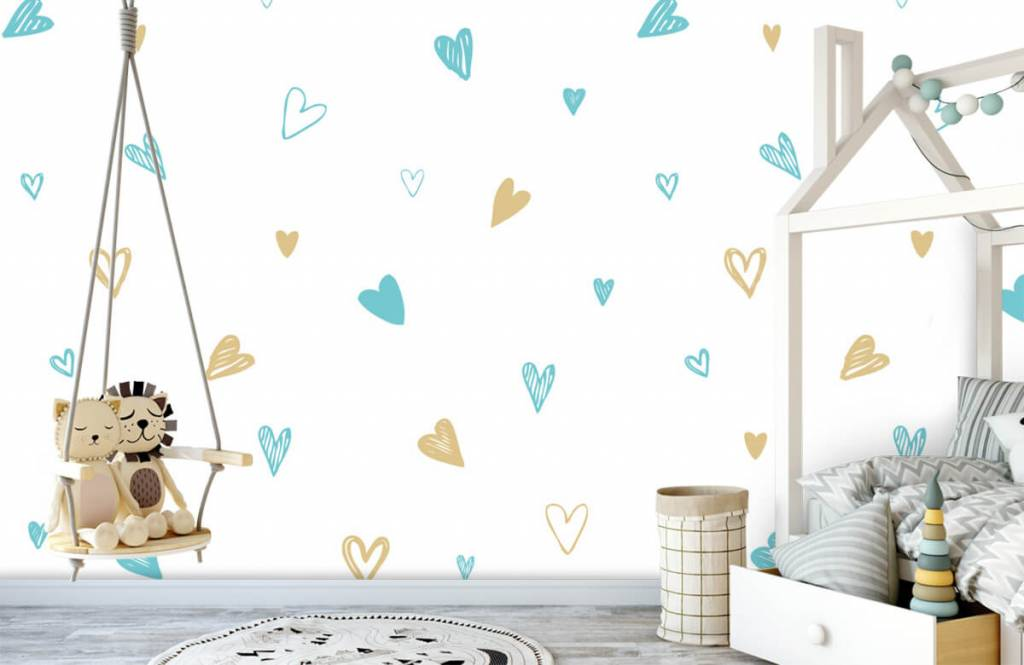Other - Mint and golden hearts - Children's room 4