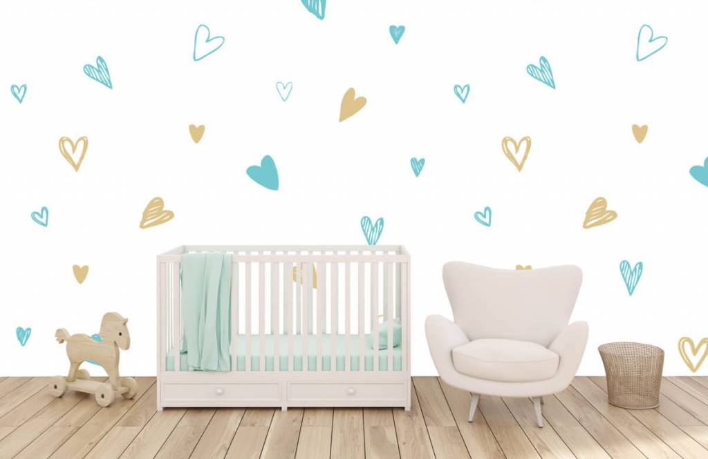 Other - Mint and golden hearts - Children's room 5