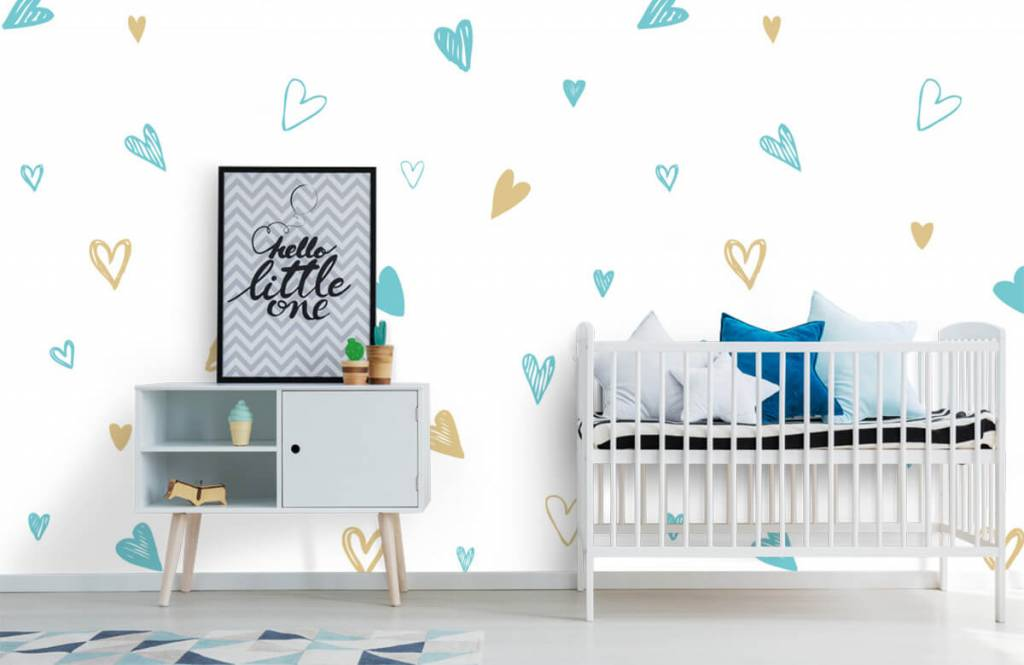 Other - Mint and golden hearts - Children's room 6