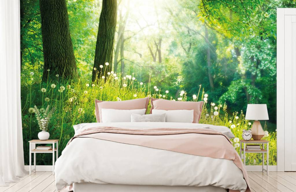 Forest wallpaper - Dandelions - Bedroom 1