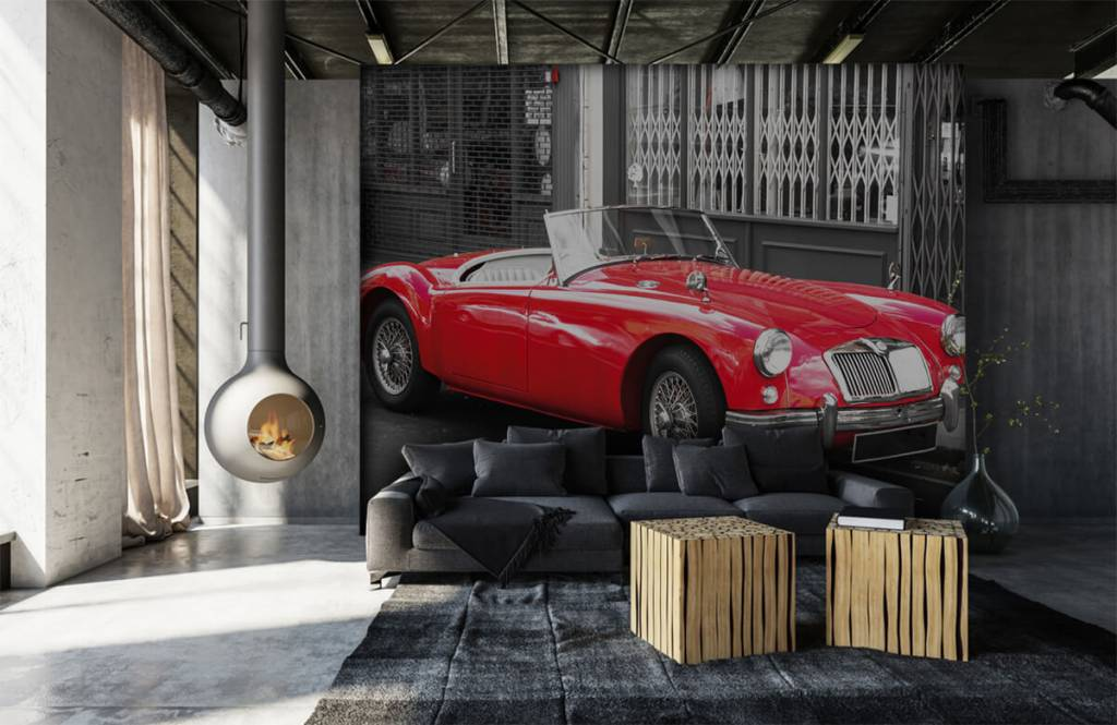 Transportation - Red classic car - Teenage room 1
