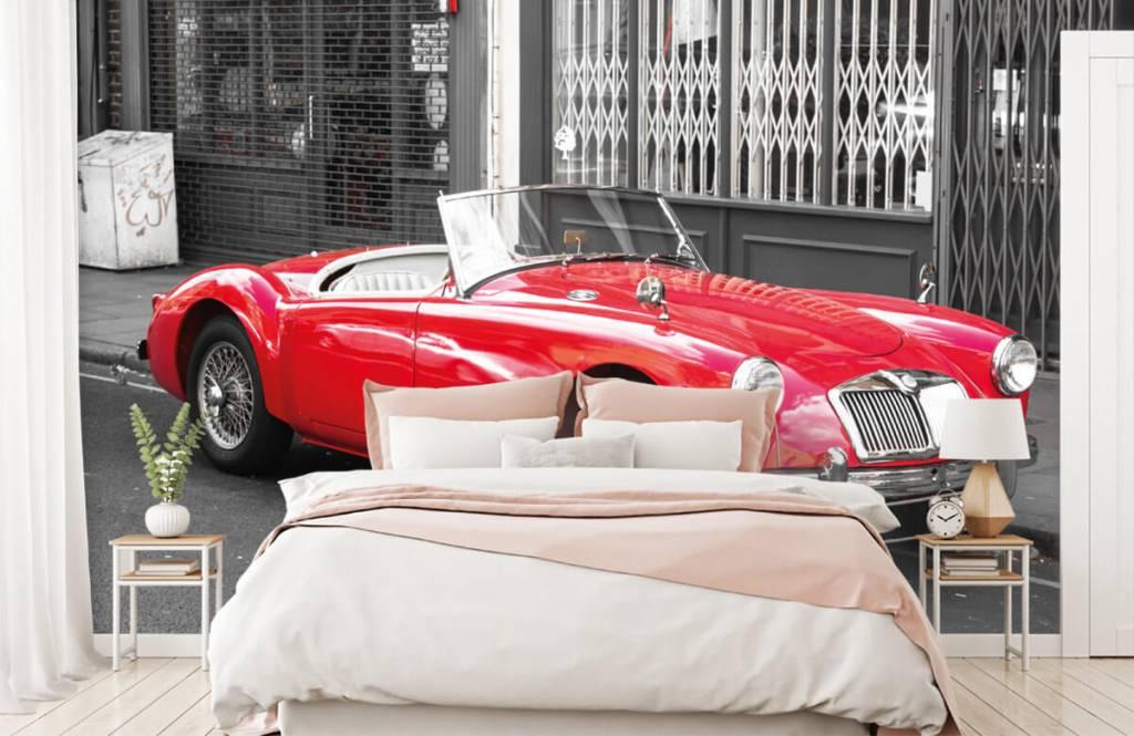 Transportation - Red classic car - Teenage room 2