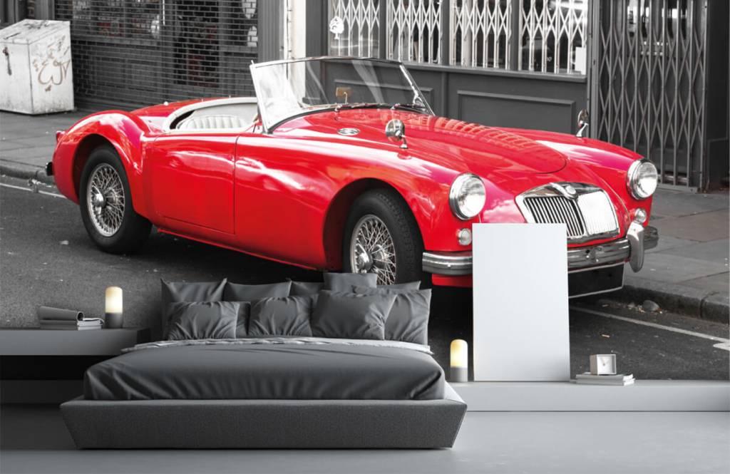 Transportation - Red classic car - Teenage room 3