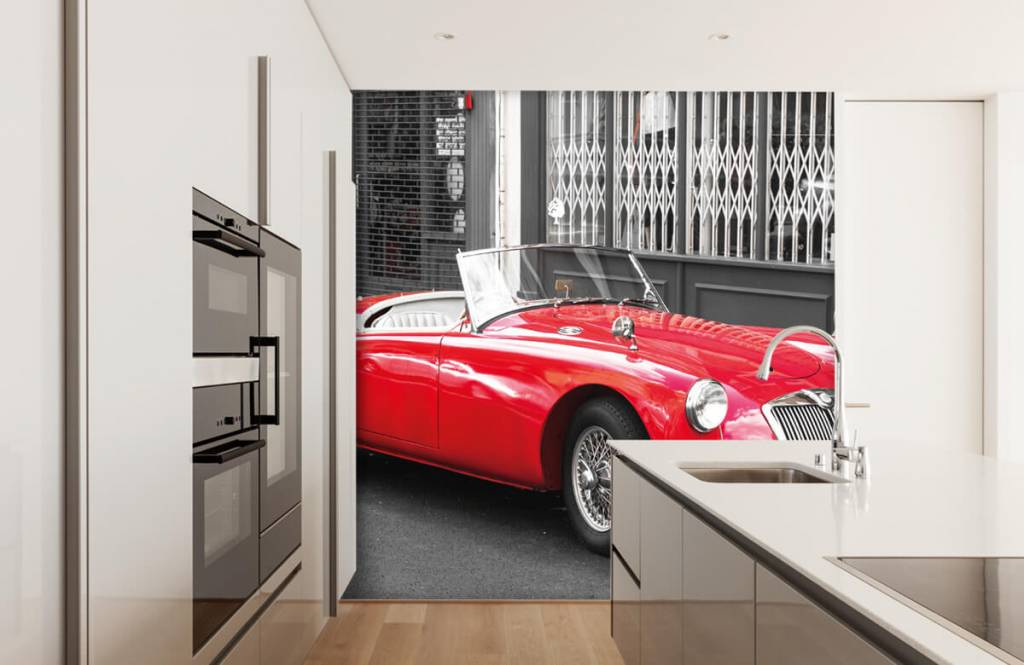 Transportation - Red classic car - Teenage room 4