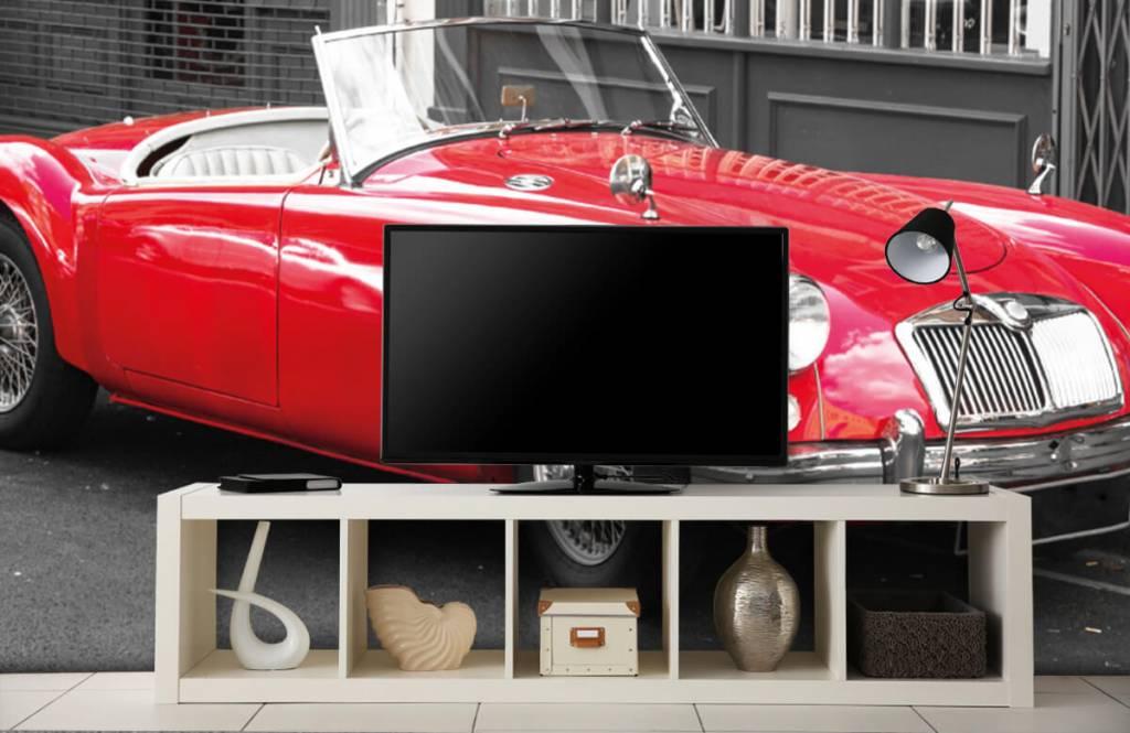 Transportation - Red classic car - Teenage room 5