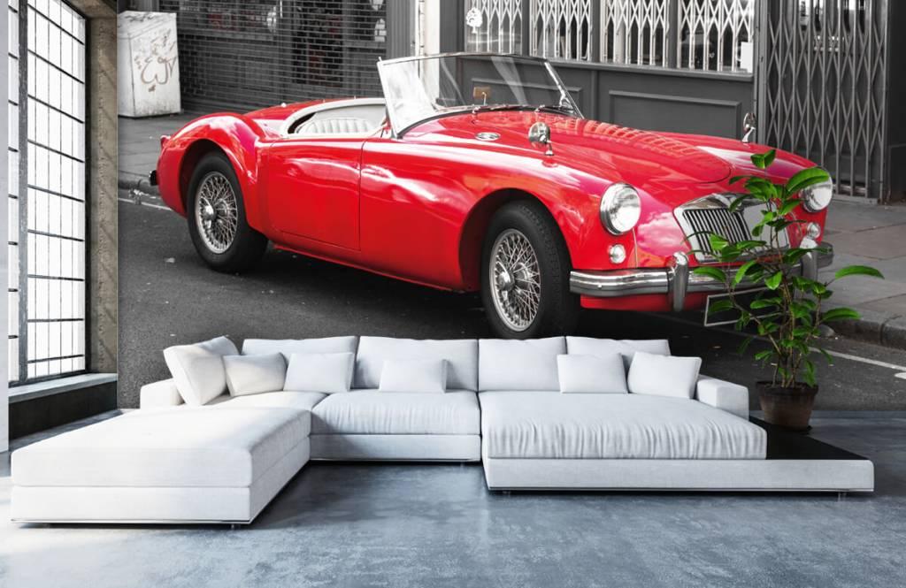 Transportation - Red classic car - Teenage room 6