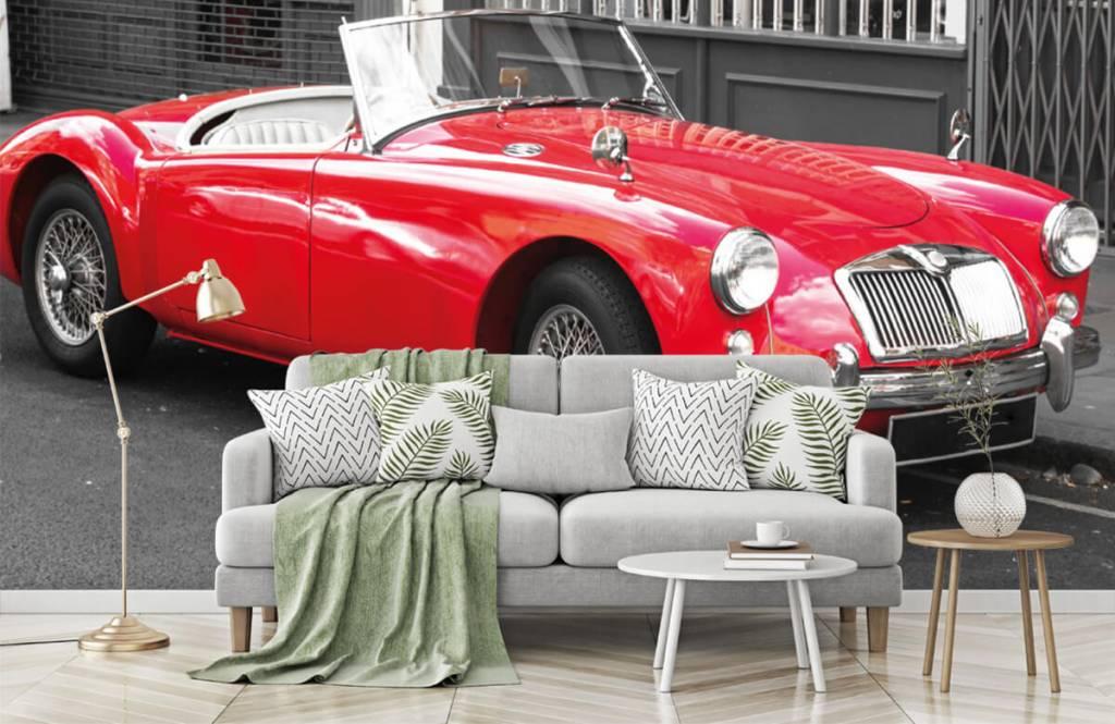 Transportation - Red classic car - Teenage room 7