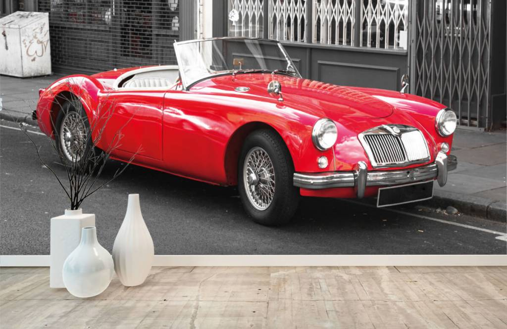 Transportation - Red classic car - Teenage room 8