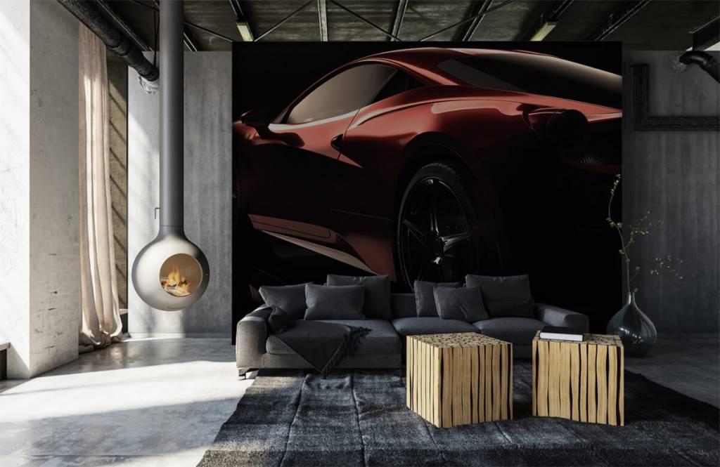 Transportation - Red sports car - Teenage room 1
