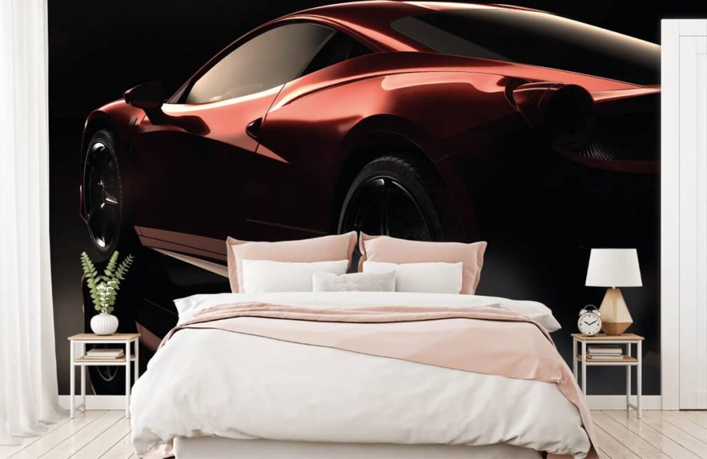 Transportation - Red sports car - Teenage room 2