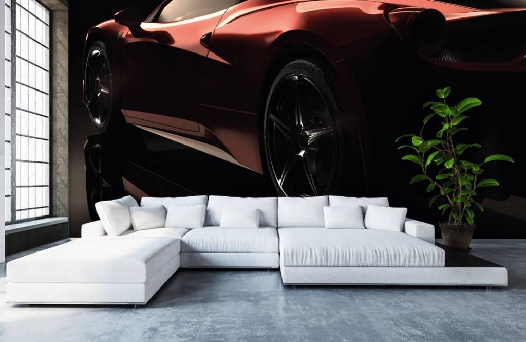 Transportation - Red sports car - Teenage room 6