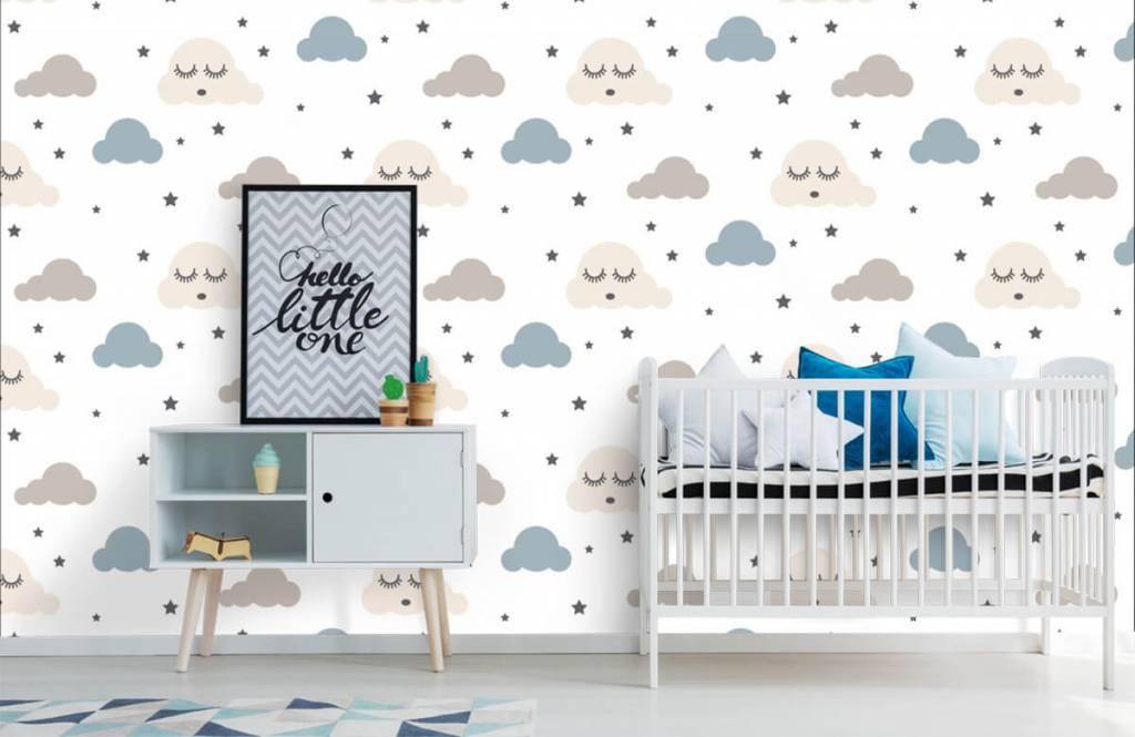 Baby wallpaper - Dormant clouds - Baby room 1