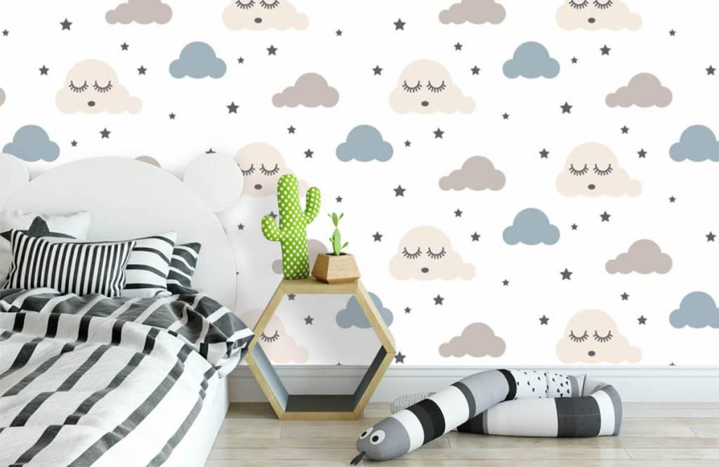 Baby wallpaper - Dormant clouds - Baby room 3