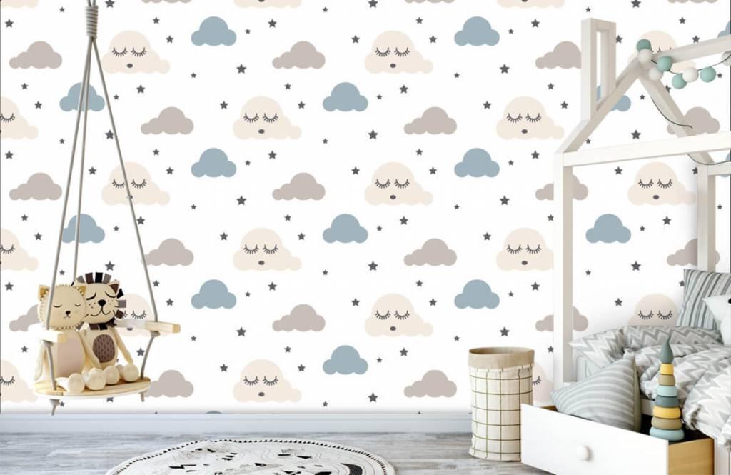 Baby wallpaper - Dormant clouds - Baby room 4