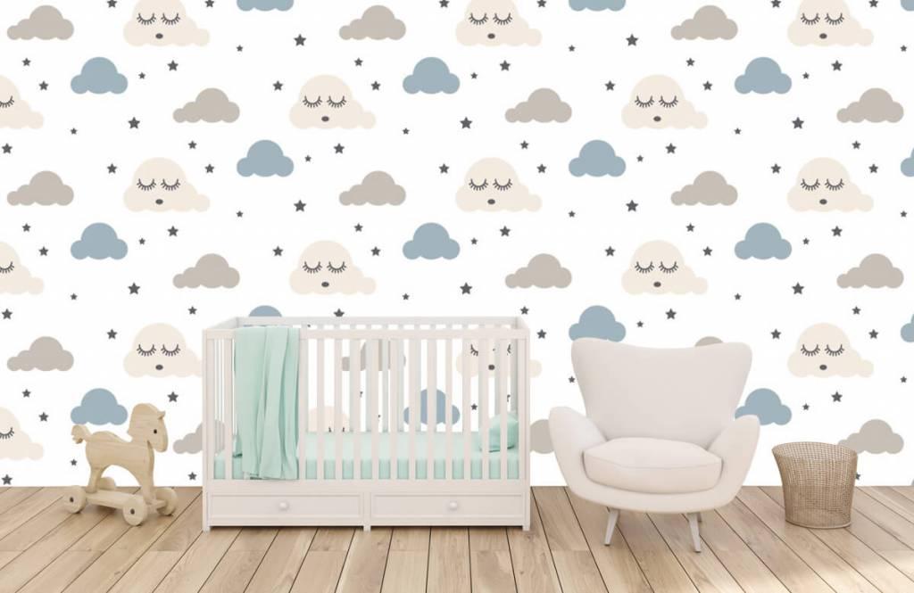 Baby wallpaper - Dormant clouds - Baby room 6