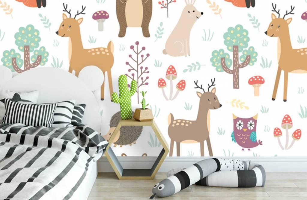 Children's wallpaper - Different animals - Children's room 1